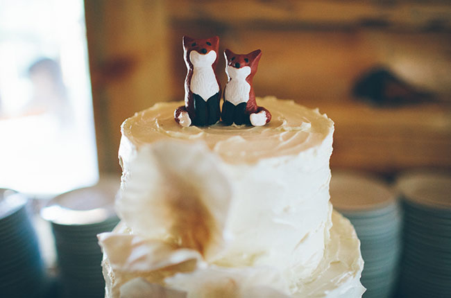 fox cake toppers
