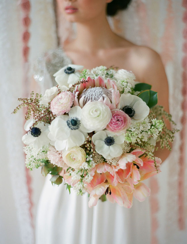 blush texture bouquet