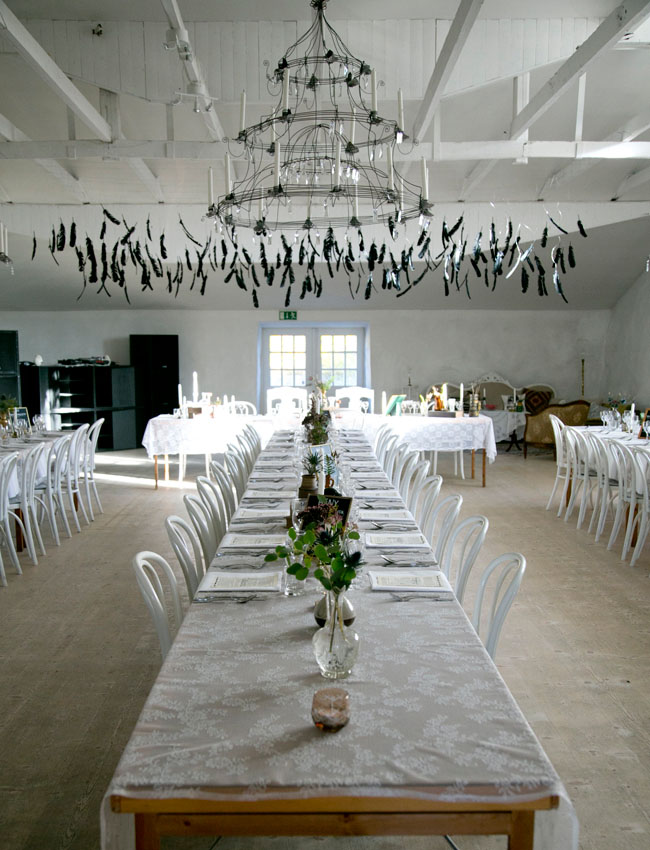 hanging black feathers