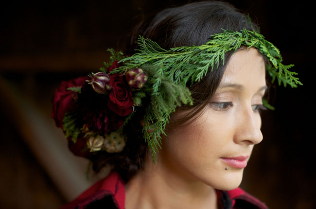evergreen flower crown