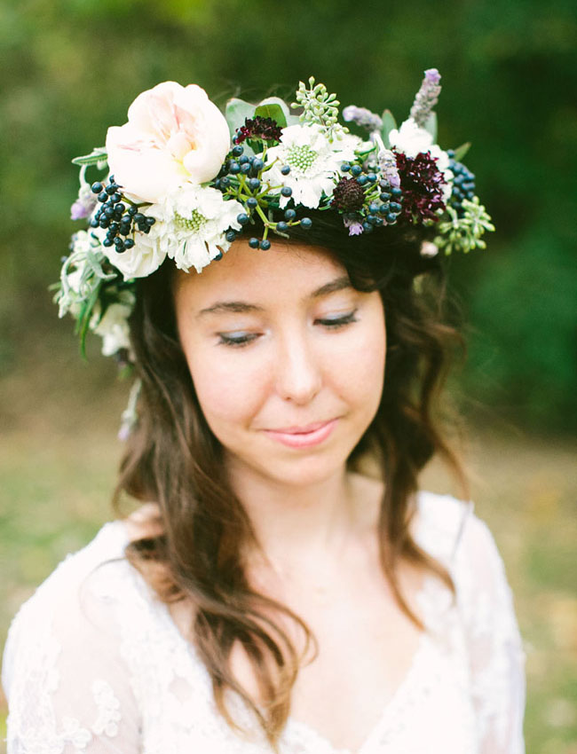 yeah weddings flower crown