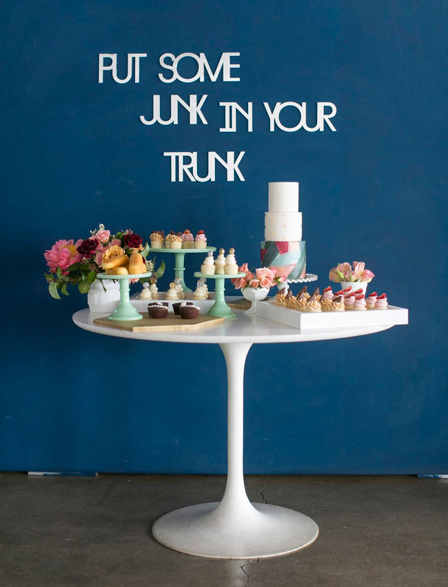 junk in your trunk dessert table