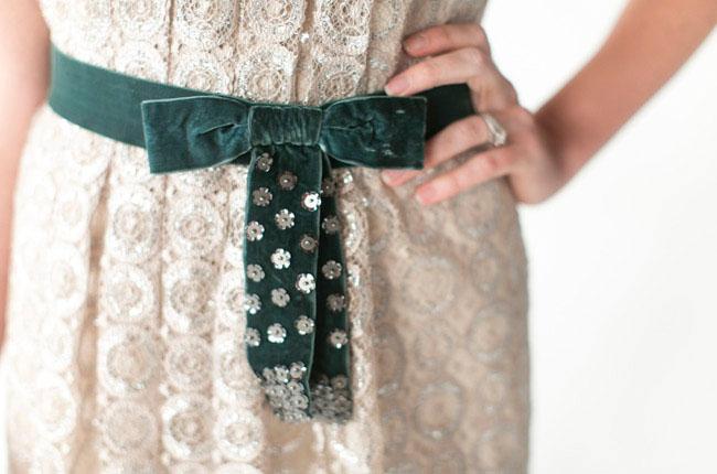 velvet bow belt