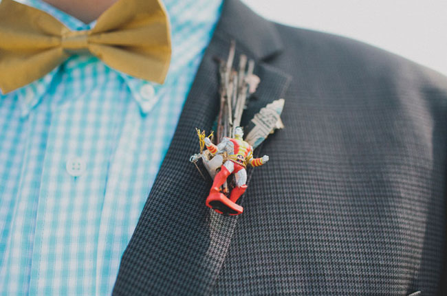 comic book boutonniere