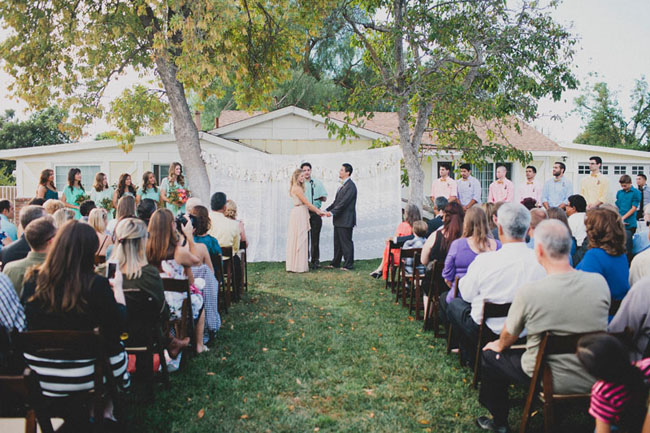 backyard ceremony