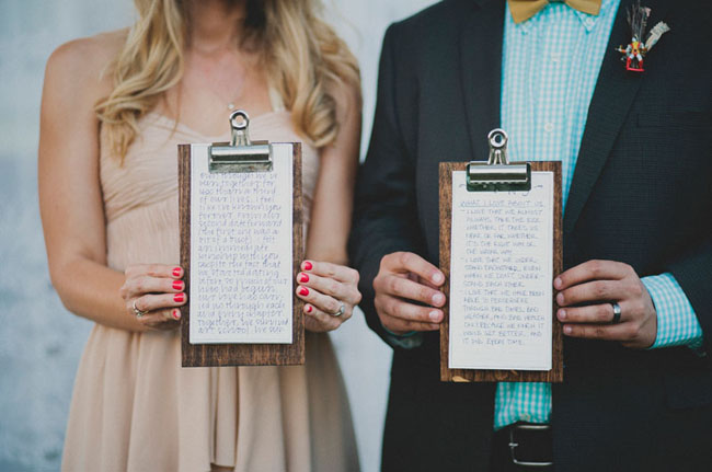 clipboard vows