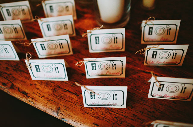 place setting escort cards