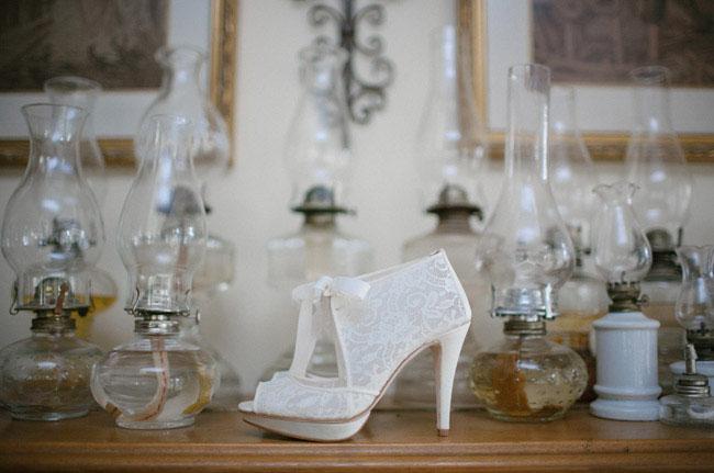 lace bootie heel