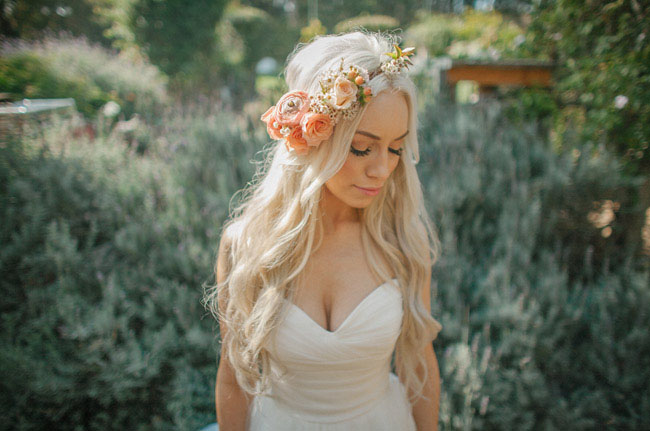 flower crown cali bride