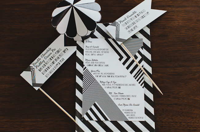 black and white circus invitation