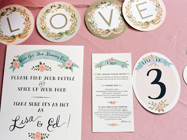 floral invitation set