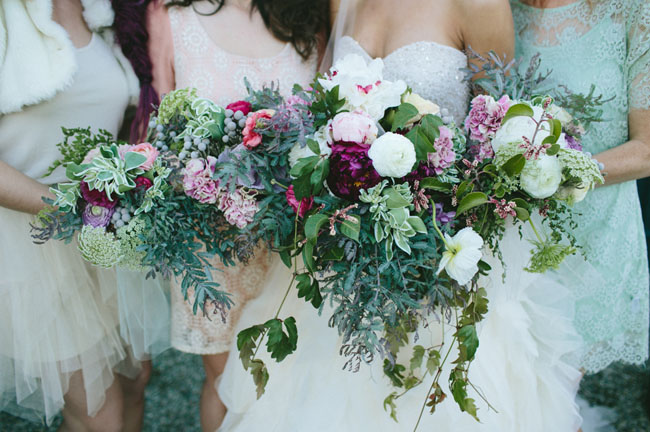 jewel toned bouquets