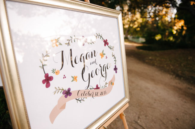 welcome wedding sign