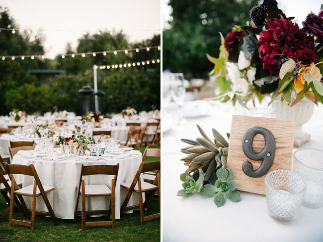 wooden iron table number