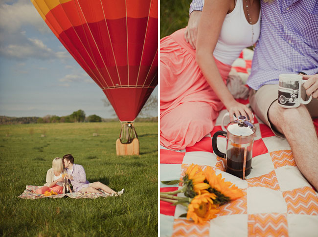 hot air balloon picnic