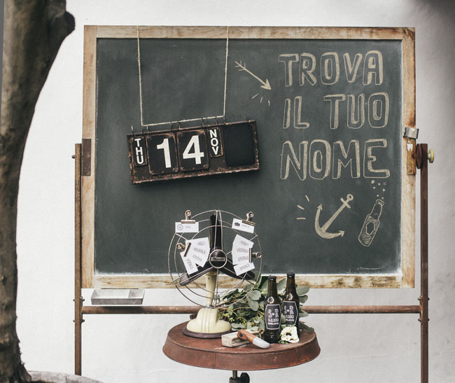chalkboard and escort cards