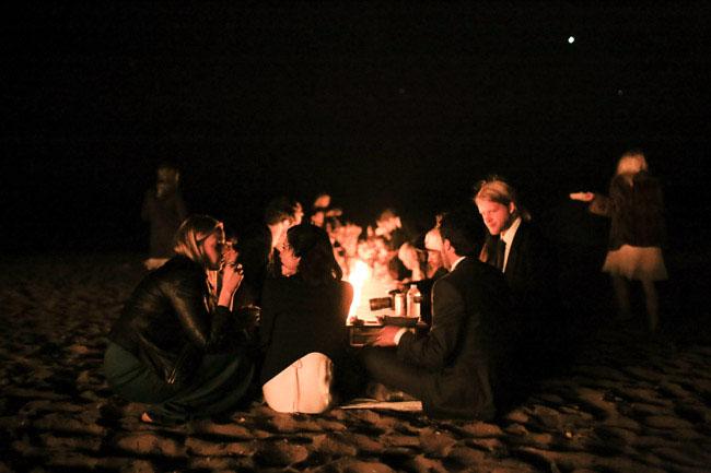 beach elopement party