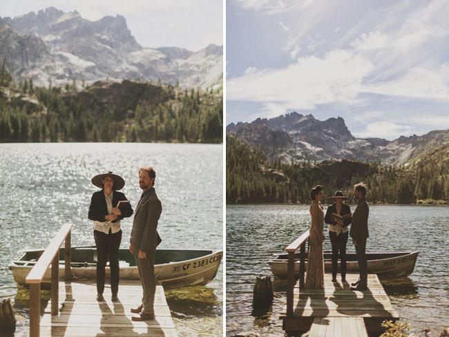 ceremony on dock