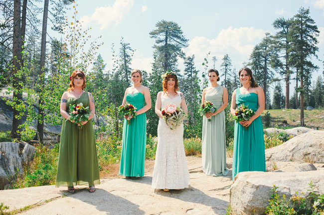 california rustic bridesmaids
