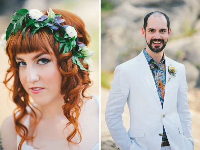 california rustic flower crown