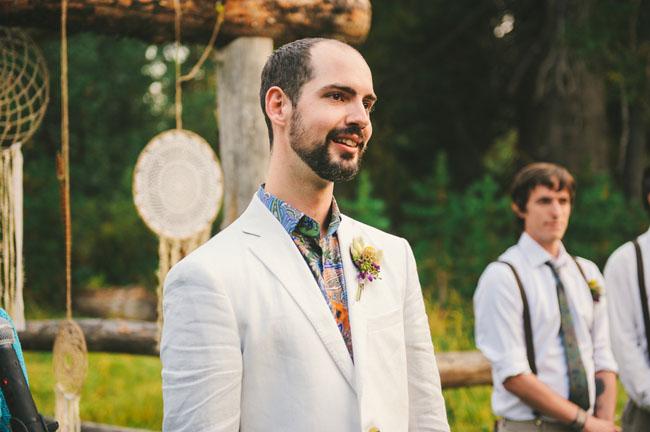 california rustic ceremony