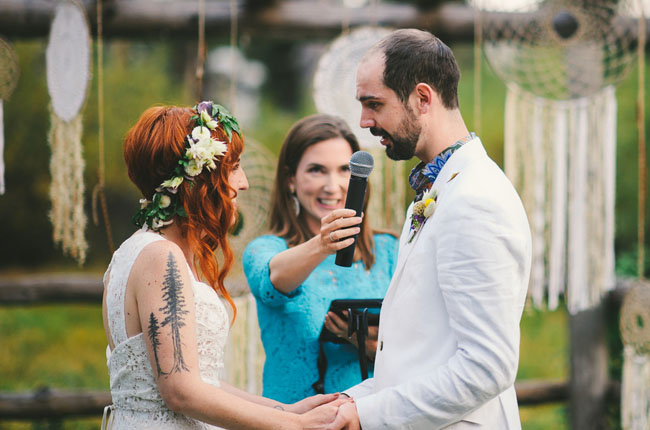 california rustic ceremony
