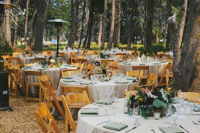 california rustic reception