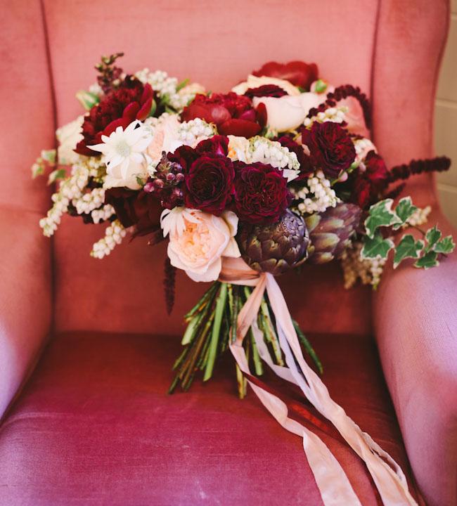 romantic red bouquet