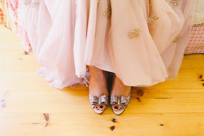 sparkle bow heels