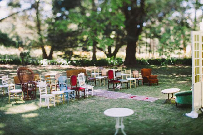 Unique Ceremony Seating Ideas For Outdoor Weddings: Winter Berry Farm Wedding: Em + Mick