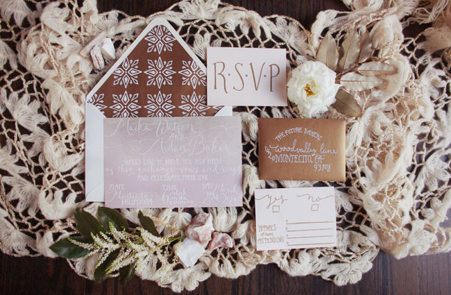macrame invitation set