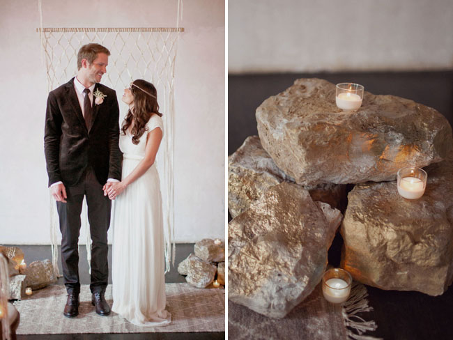 rock ceremony decor