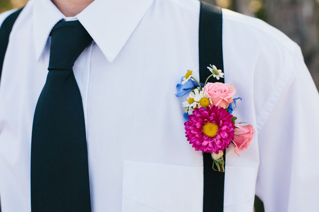flowery boutonniere