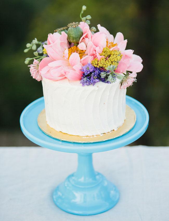 flowery cake topper