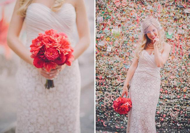 red market bouquet