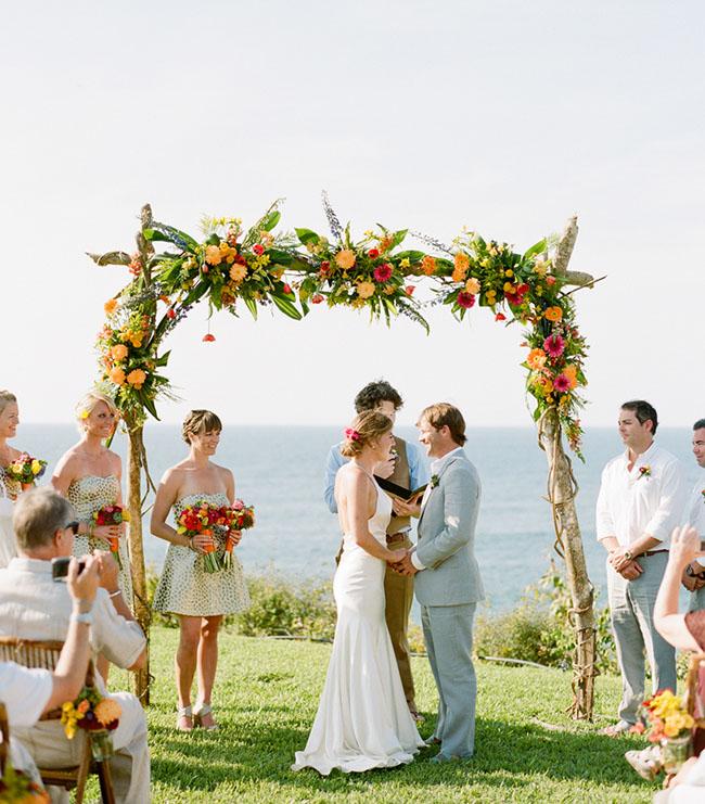 mexico wedding arch