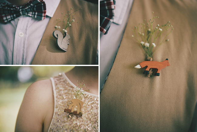 animal boutonnieres