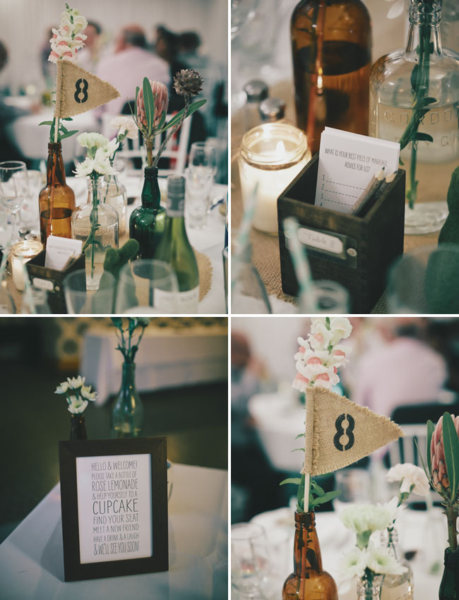 brown bottle table decor