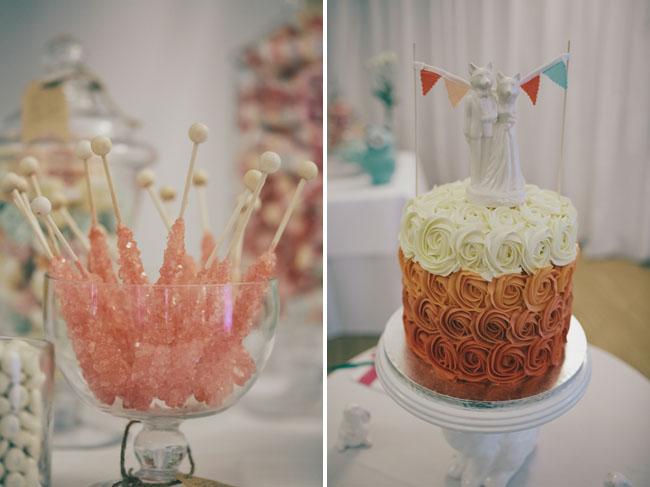 ombre orange cake