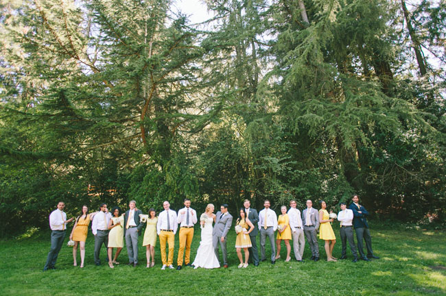 yellow wedding party