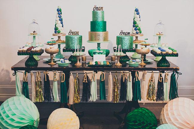 emerald dessert bar