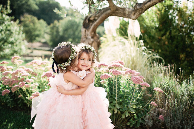 pink tuscany flower girls