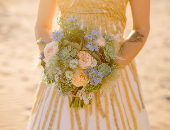 watercolor beach bouquet