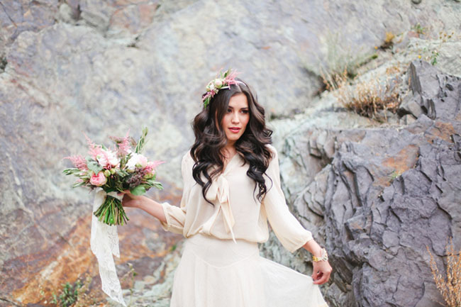 whimsical rocks bride