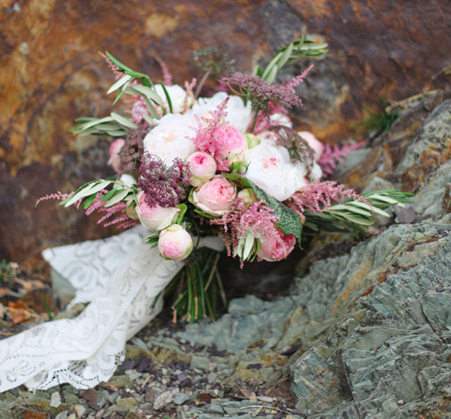 pink whimsical rock bouquet