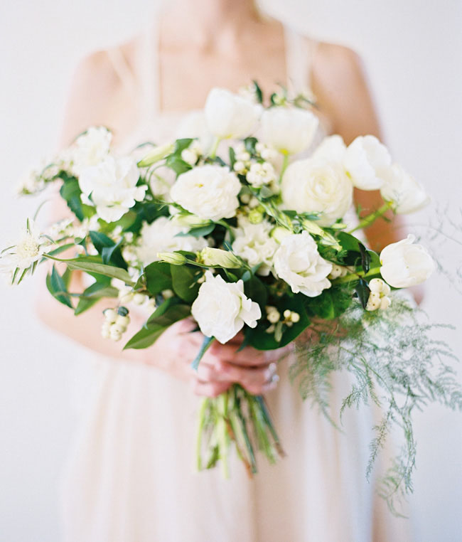 white organic inspiration bouquet