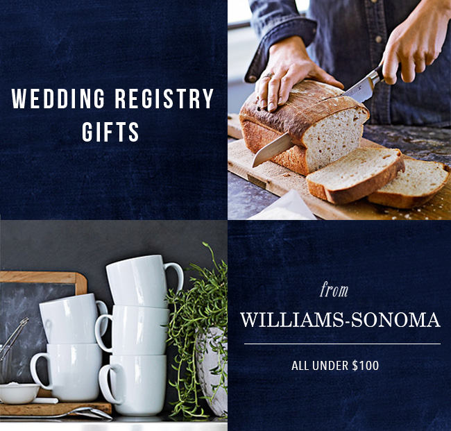 Target Wedding Registry Gift Card: Wedding Registry Gifts From Williams-Sonoma