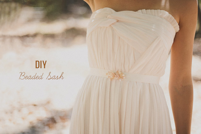 DIY Beaded Sash