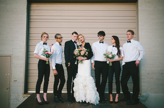 Edgy + Feminine Wedding Inspiration