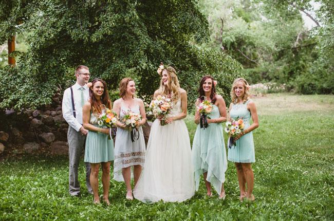 bridesmaids and men